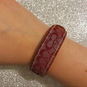 COACH leather snap bracelet